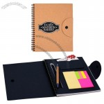 Fredonia Cardboard Cover Notebook with Sticky Note Flags