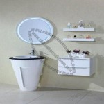 Fresh and Simple Style MDF Bathroom Cabinet with Two Shelves