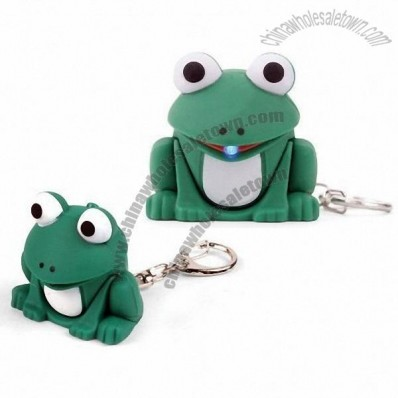 Frog Keychain With Light and Sound