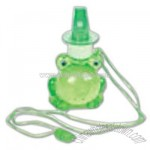 Frog bubble whistle necklace