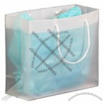 Frosted Clear Plastic Euro Tote Shopping Bag - 4 Mil 12