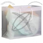 Frosted Clear Plastic Euro Tote Shopping Bag - 4 Mil 16