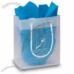 Frosted Clear Plastic Euro Tote Shopping Bag - 4 Mil 6