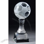 Frosted Crystal Soccer Ball Trophy
