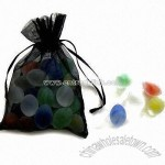 Frosted Olive Glass Marbles for Decoration of Garden Ornaments
