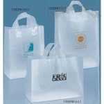 Frosted Plastic Shopping Bag