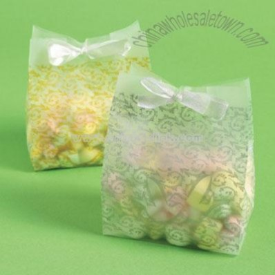 Frosted Silver Wedding Favor Bags