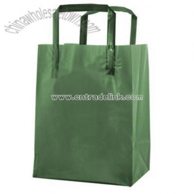 Frosted Tri-Fold Handle Shopping Bags