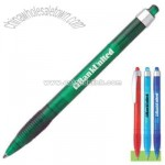 Frosted translucent plastic retractable pen