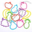 Fruit Shaped Rubber Band - Assorted Colors & Shapes - Toy