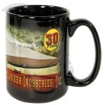Full Color Printed 15oz Black Sublimation Mug