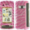 Full Rhinestone Diamond LG VX 11000 enV Touch Pink Zebra Case