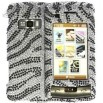 Full Rhinestone Diamond LG VX 11000 enV Touch Silver Zebra Case
