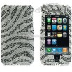 Full Rhinestone iPhone 3G 3GS Zebra Case