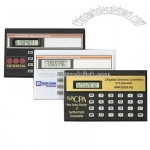 Full function credit card size calculator with automatic power shut-off