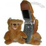 Fun Friends Beary Brown Bear Plush Animal Flip Cell Phone Cover
