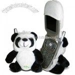 Fun Friends Plush Animal Flip Cell Phone Cover-Panda