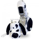 Fun Friends Plush Animal Flip Cell Phone Cover-Spotty Dog