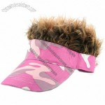 Fun Hair Hat Pink Camo - Brown - Adult Size
