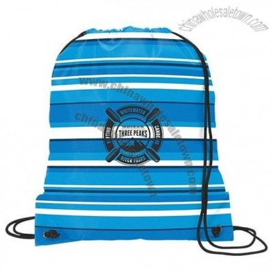 Fun Stripe Drawcord Bag