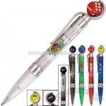 Fun spinning pen with dice top