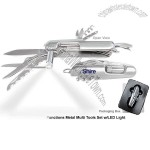 Functions Metal Multi Tools Set with LED Light