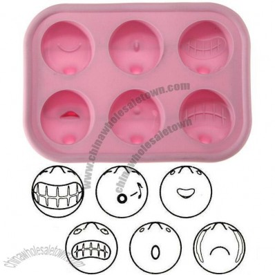 Funny Face Silicone Ice Cube Tray