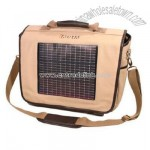 Fusion Solar Messenger Bag - Canvas with Leather Trim