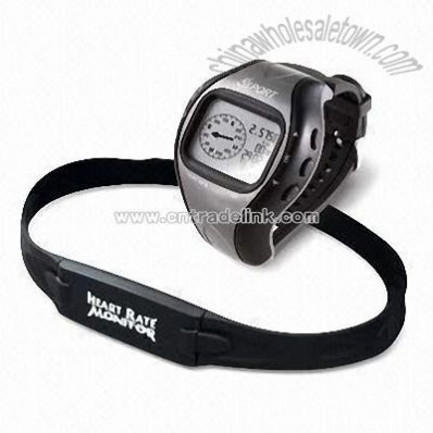 GPS Watch with Heart Rate Monitor and Large LCD