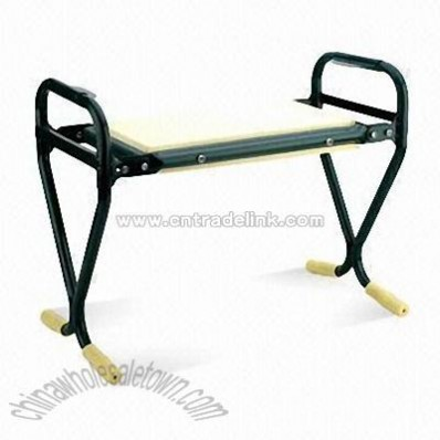 Garden Seat with Iron Frame in Green