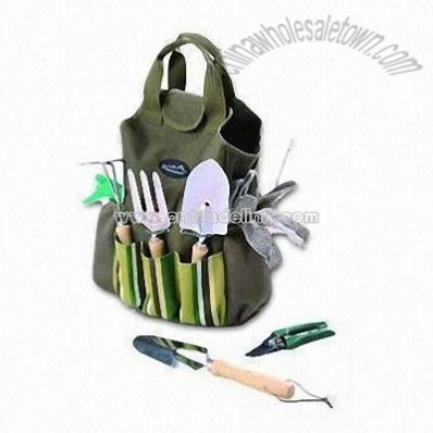 Garden Tools Carry Bag with Big Storage Compartment and Easy Carry Handle