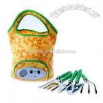 Gardener Tool Set with Wide Open Storage Compartment and Radio