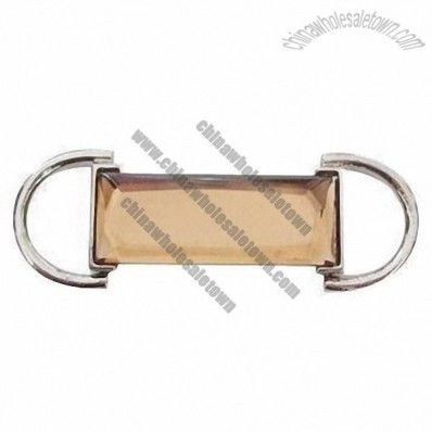 Garment Buckle with Rhinestone Bar Decoration
