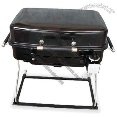 Gas Grill with Retractable Handle