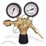 Gas Regulator with 200bar Input Pressure, Made of Forged Brass Body and Bonnet