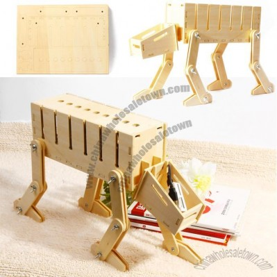 Geekcook Diy Robot Dog Electrical Wire Reel Box Storage Box