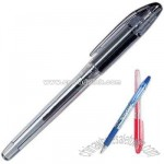 Gel stick roller ball pen with soft rubber grip section