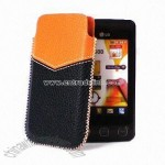 Genuine Leather Case Pouch for LG KP500