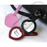 Genuine Leather Heart Luggage Tag
