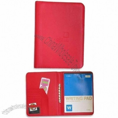 Genuine Leather or PU Portfolio with Embossed Logo