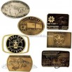 Genuine die struck solid brass belt buckle