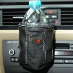 Genuine leather car hanging storage bag cell phone pocket