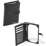 Genuine leather pocket notebook