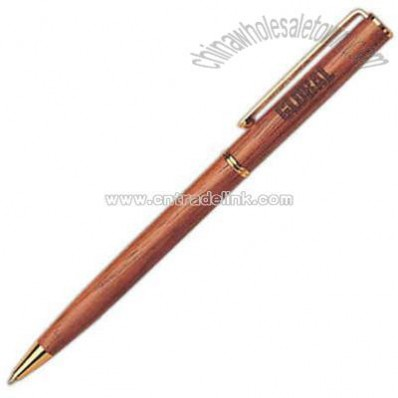 Genuine rosewood ballpoint pen with