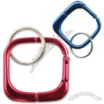 Geo Square Carabiner Key Chain