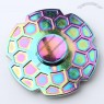 Geometric Pattern Round Colorful Hand Fidget Spinner Fiddle Toy