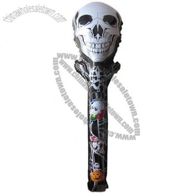 Ghostly Skull Cheering Stick, Halloween Balloons, Party Inflatable Toys
