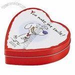 Gift heart-shaped tin box for weddings