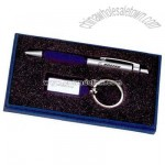 Gift set with key chain and pen