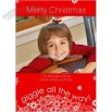 Giggle Way Red Holiday Card